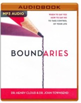 Boundaries: When to Say Yes, How to Say No, to Take Control of Your Life - unabridged audio book on MP3-CD