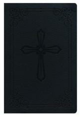 NIV Compact Holy Bible--leathersoft, black