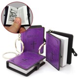 Smallest Bible Keyring, X-Large, Violet
