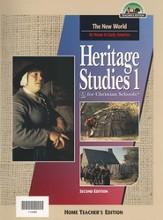 BJU Heritage Studies Grade 1, Home Teacher's Edition