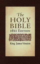 KJV 1611 Bible 400th Anniversary Edition, Hardcover