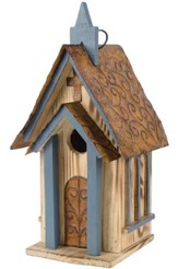 Blue Church Birdhouse