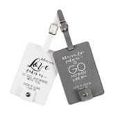Go Anywhere Luggage Tags, Gray & White