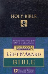 NRSV Award Bible, Imitation leather,  black