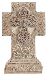 Hope, Achieve the Impossible, Mini Pedestal Cross