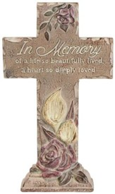 In Memory Of A Live So Beautifully Lived Pedestal Cross