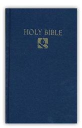 NRSV Pew Bible Hardcover, Navy Blue Slightly Imperfect