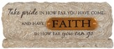 Faith, Table Top Plaque