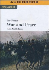 War & Peace: Volume I, Volume II - unabridged audio book on MP3-CD