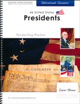 44 United States Presidents: Advanced Cursive,  Zaner-Bloser Edition