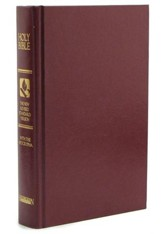 NRSV Pew Bible With Apocrypha, Hardcover, Burgundy, Slightly Imperfect
