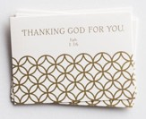 Thanking God For You Note Cards, Pack of 10