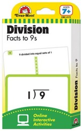 Flashcard: Division Facts Through the 9s