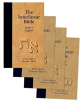 The Interlinear Hebrew-Greek-English Bible, 4 Volumes - Slightly Imperfect