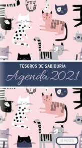 Planificador de bolsillo 2021: Tesoros de sabiduria, gatos  (2021 Treasure of Wisdom Pocket Planner, Cats, Spanish)