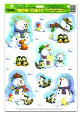Playful Snowmen Window Clings