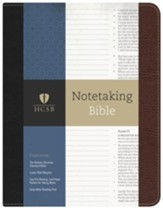 HCSB Notetaking Bible--bonded  leather, black/brown