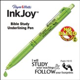 Inkjoy, Bible Study Pen, Lime Green