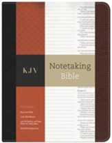 KJV Notetaking Bible--bonded leather, black/brown - Imperfectly Imprinted Bibles