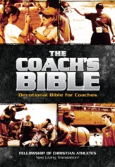 The Coach's Bible: NLT Devotional Bible for Coach's, Leather, imitation