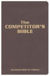 The Competitor's Bible: NLT Devotional Bible for Competitors, Brown Leathertouch