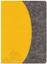 NKJV Holman Study Bible, Canary and Slate Grey LeatherTouch