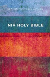 NIV Value Outreach Bible Red and Blue Stripes, Paperback, Case of 32
