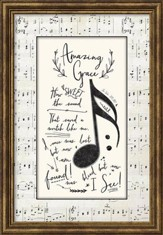 Amazing Grace Hymn, Framed Art