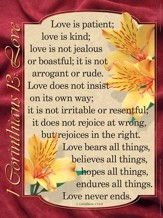 Catholic: 1 Corinthians 13: Love - Laminated Poster