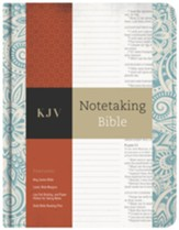KJV Notetaking Bible, Blue Floral Cloth