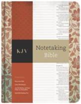 KJV Notetaking Bible, Red Floral Cloth
