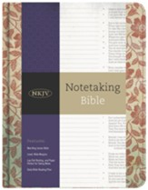 NKJV Notetaking Bible, Red Floral  Cloth