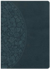 NKJV Holman Study Bible: Large Print, Dark Teal LeatherTouch Thumb-Indexed