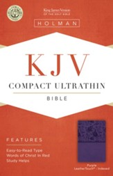 KJV Compact Ultrathin Reference Bible, Purple LeatherTouch, Thumb-Indexed