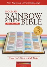 KJV Rainbow Study Bible, Maroon LeatherTouch, Thumb-Indexed