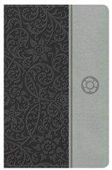NKJV Reader's Reference Bible, Gray Leathertouch