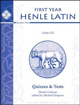 Henle Latin 1 Quizzes & Tests, Units 1-2