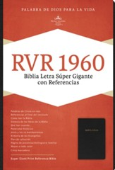 RVR 1960 Biblia Letra Súper Gigante, negro piel fabricada con índice, RVR 1960 Super Giant Print Bible, Black Bonded Leather, Thumb-Indexed