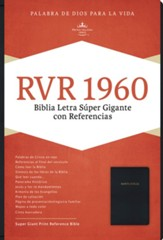 Biblia RVR 1960 Letra Super Gigante, Imit. Piel Negra Ind.  (RVR 1960 Super Giant Print Bible, Black Imit. Leather, Ind.)