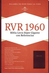 Biblia RVR 1960 Letra Super Gigante, Piel Imit., Vino  (RVR 1960 Super Giant Print Bible, Imit. Leather, Burgundy)