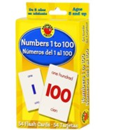 Brighter Child Numbers 1 to 100  Bilingual Flash Cards (English/Spanish)