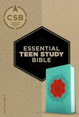 CSB Personal Size Essential Teen Study Bible, Coral Flower LeatherTouch