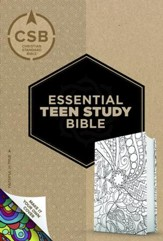 CSB Personal Size Essential Teen Study Bible, Make-It-Your-Own Crown LeatherTouch