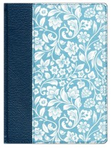 Biblia de Apuntes RVR 1960, Piel Gen. y Tela Impresa Azul  (RVR1960 Notetaking Bible, Blue Gen. Leather plus Cloth)
