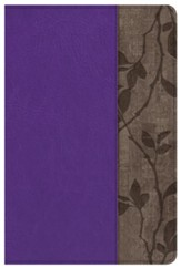 KJV Personal Size Study Bible, Purple with Brown Cork LeatherTouch