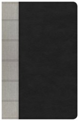 NKJV Large Print Personal Size Reference Bible, Black & Gray Deluxe LeatherTouch, Thumb-Indexed