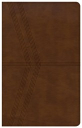 KJV Ultrathin Reference Bible, Brown Deluxe LeatherTouch - Slightly Imperfect