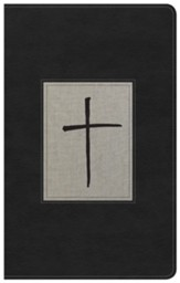 KJV Ultrathin Reference Bible, Black & Gray Deluxe LeatherTouch, Thumb-Indexed - Imperfectly Imprinted Bibles