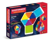 Magformers Rainbow Solids, Opaque, 30 Pieces