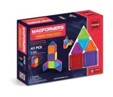 Magformers Rainbow Solids, Opaque, 40 Pieces